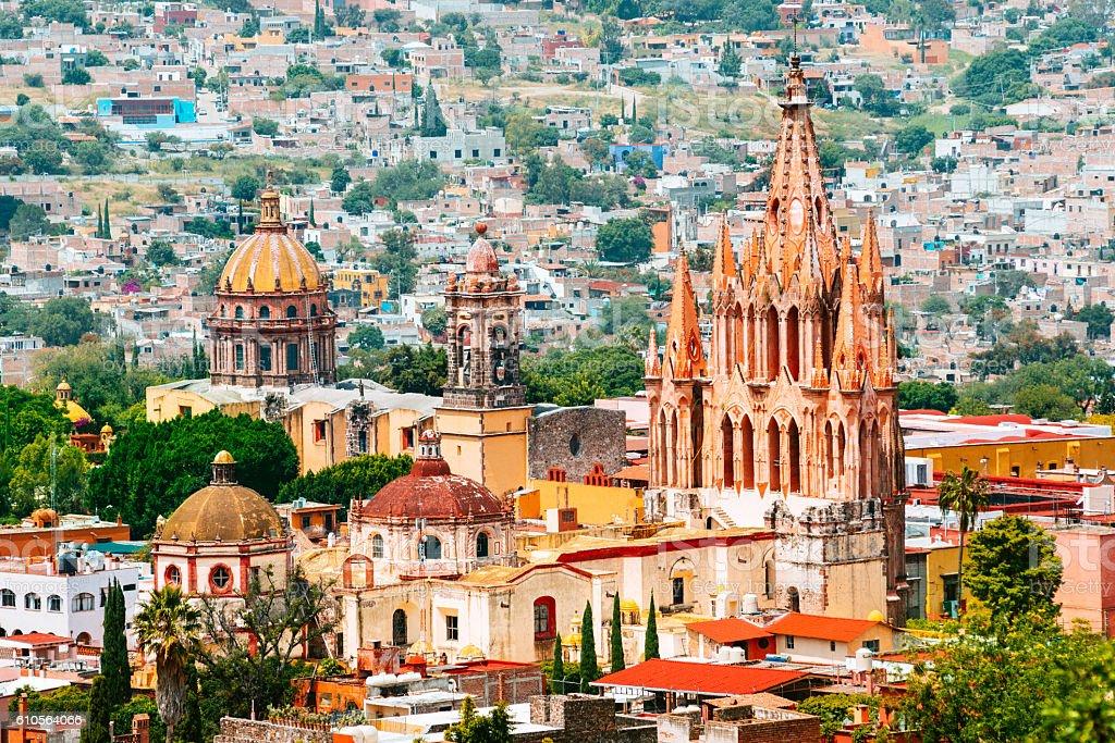 San Miguel de Allende in Mexico stock photo