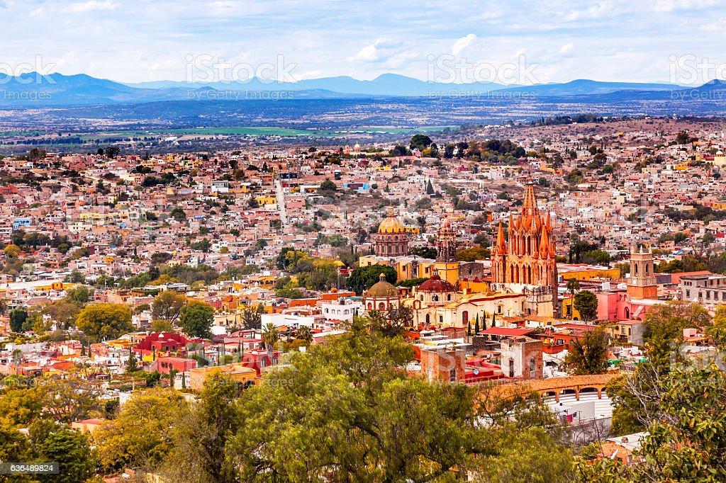 San Miguel de Allende Mexico Miramar Overlook Parroquia stock photo