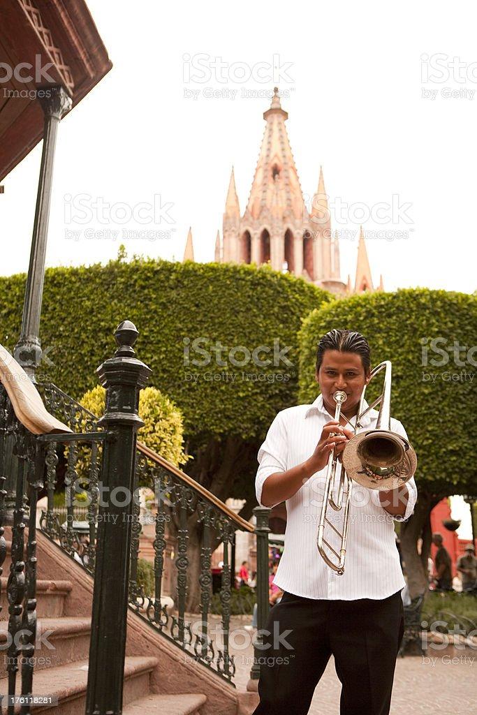 San Miguel de Alllende Musician royalty-free stock photo