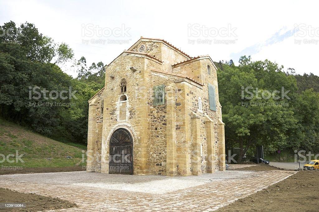 San Miguel de Lillo church stock photo