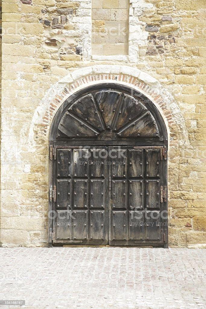 San Miguel de Lillo door stock photo