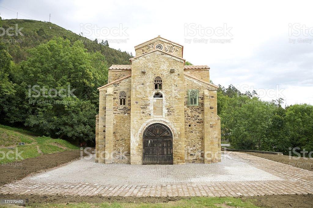 San Miguel de Lillo facade stock photo