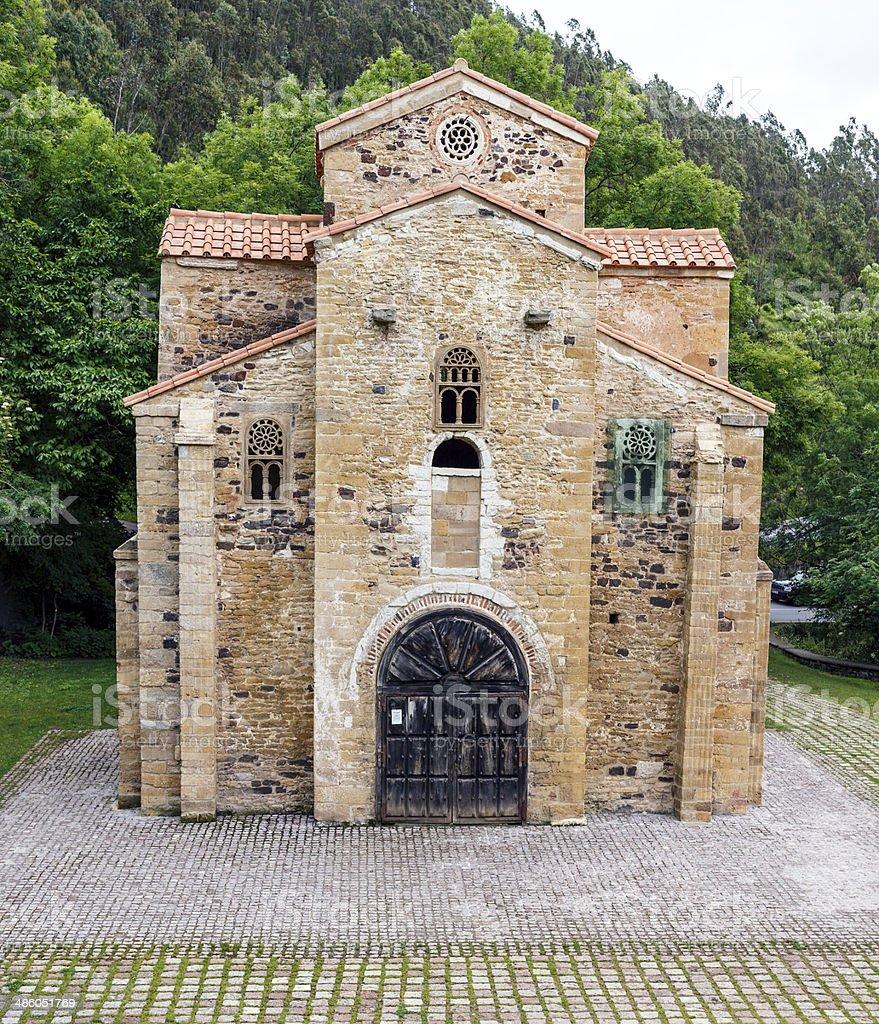 San Miguel de Lillo in Oviedo stock photo