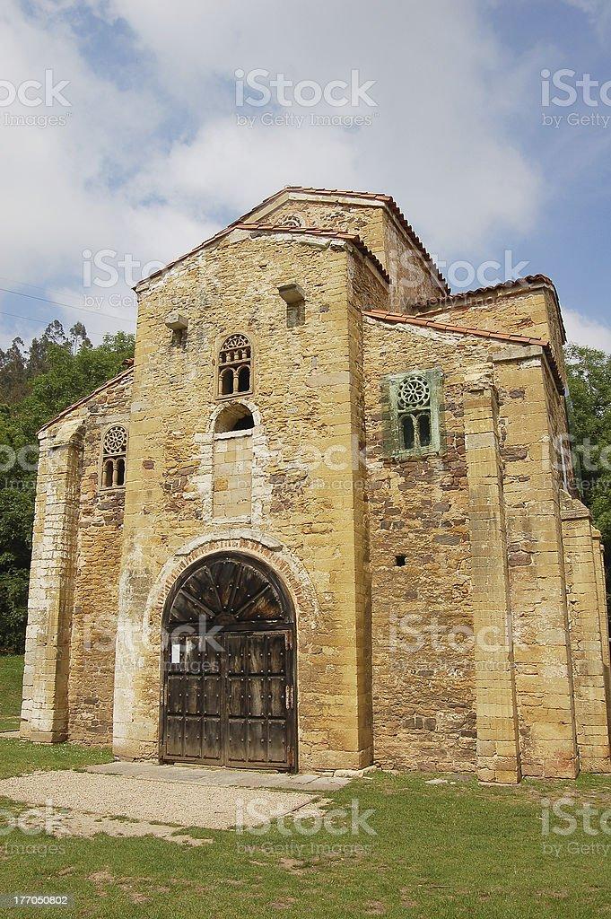 San Miguel de Lillo, Oviedo stock photo