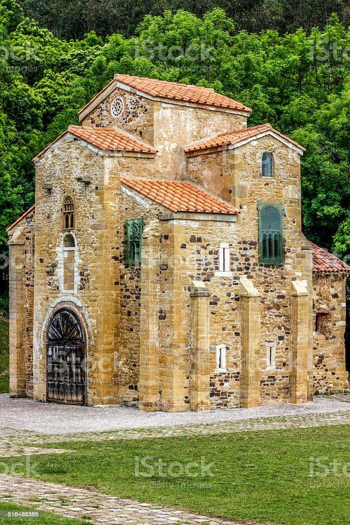 San Miguel de Lillo, Oviedo (Spain) stock photo