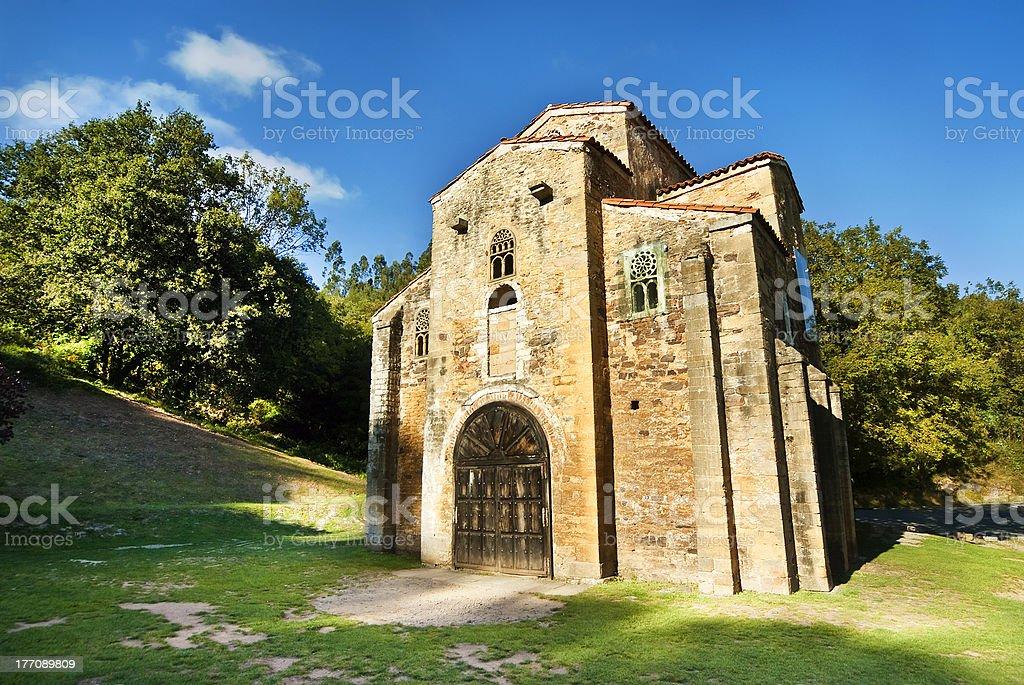 San Miguel de Lillo Oviedo Spain stock photo