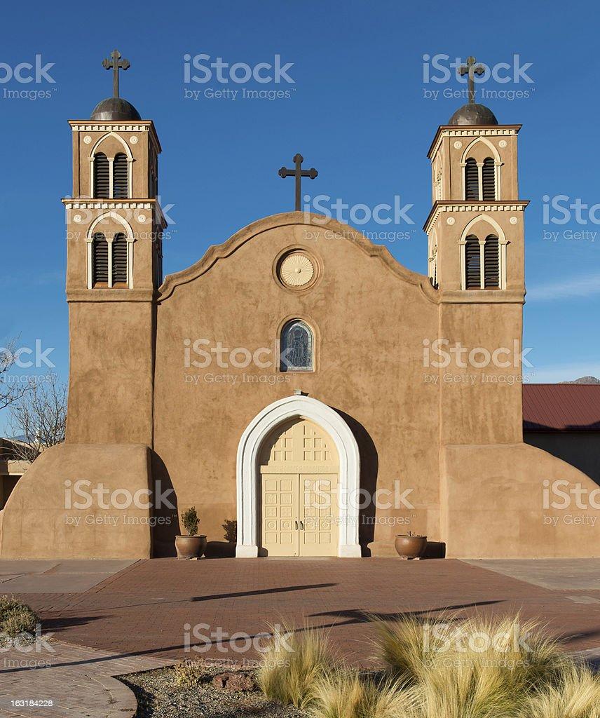 San Miguel de Socorro church royalty-free stock photo