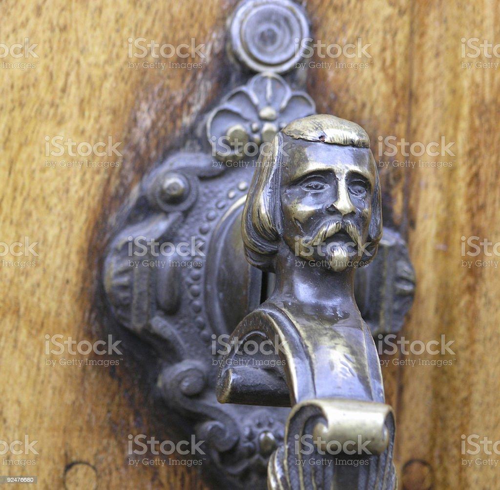 San Miguel Door Knocker royalty-free stock photo