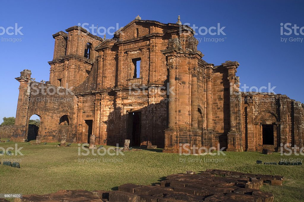 San Miguel Mission, Brazil stock photo
