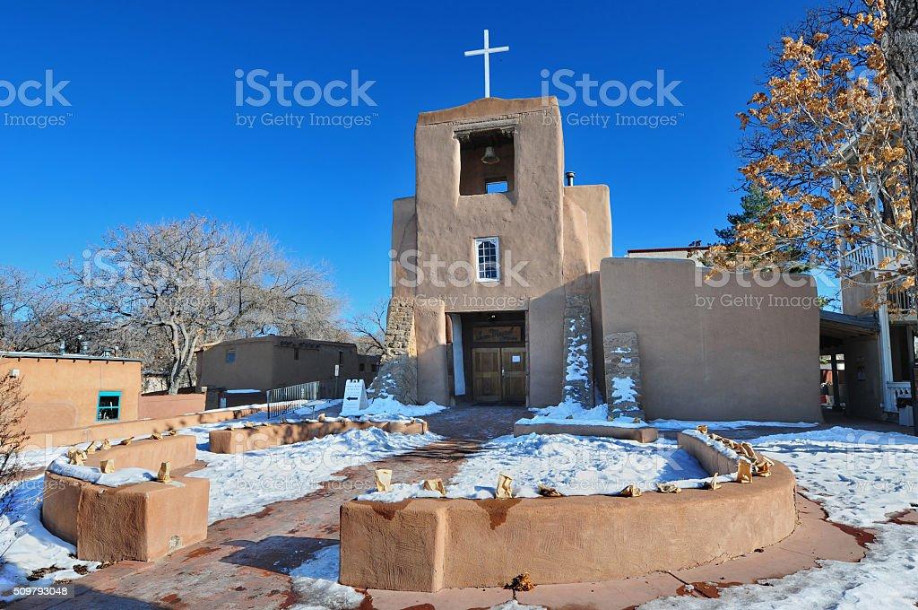 San Miguel Mission Chapel stock photo