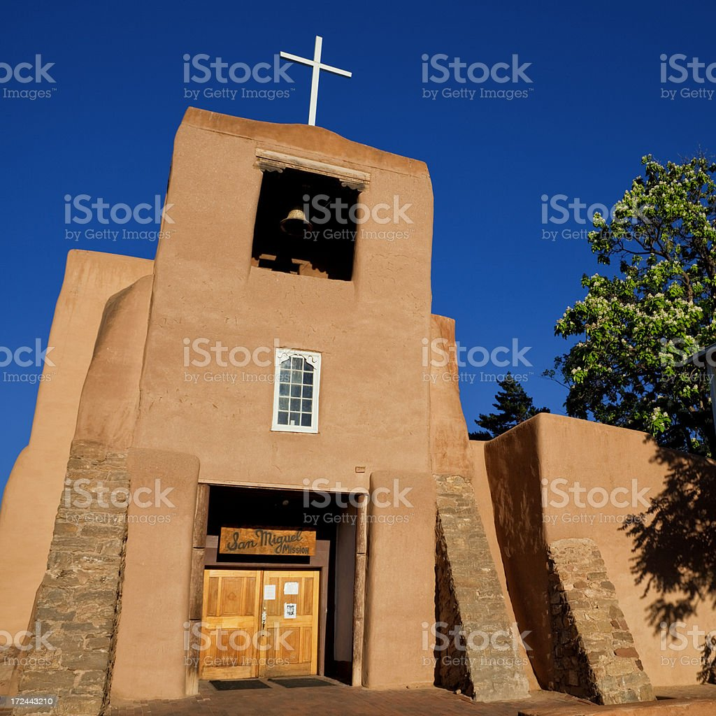 San Miguel Mission - Santa Fe, New Mexico stock photo