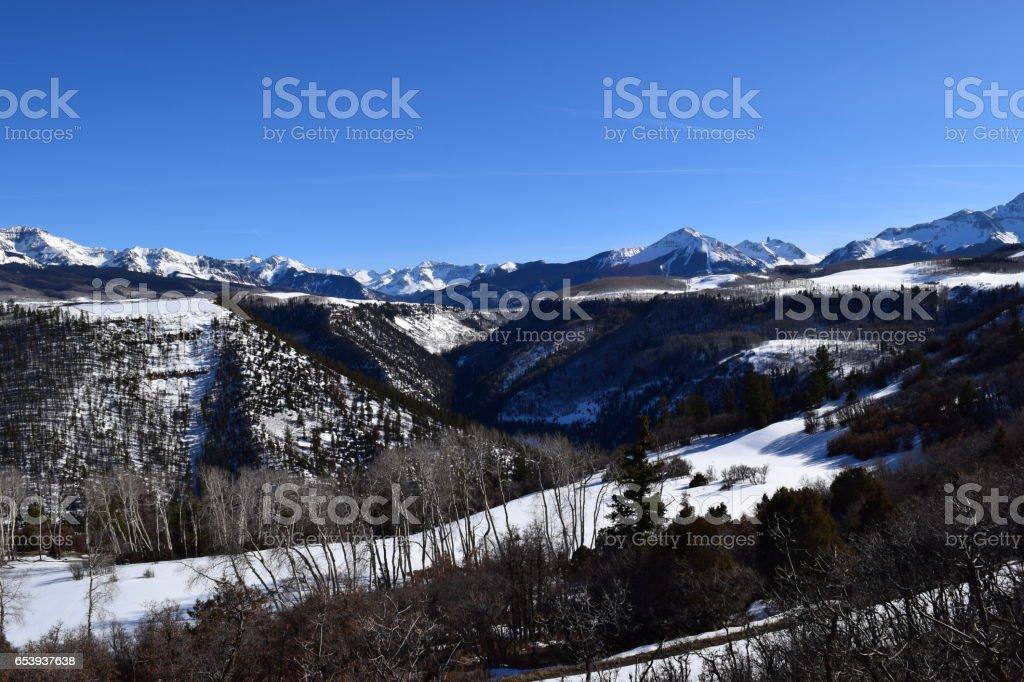 San Miguel Valley Vista stock photo