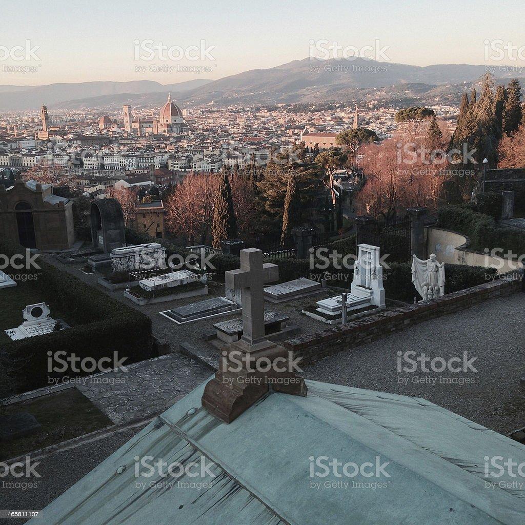 San Minato al Monte, Firenze stock photo
