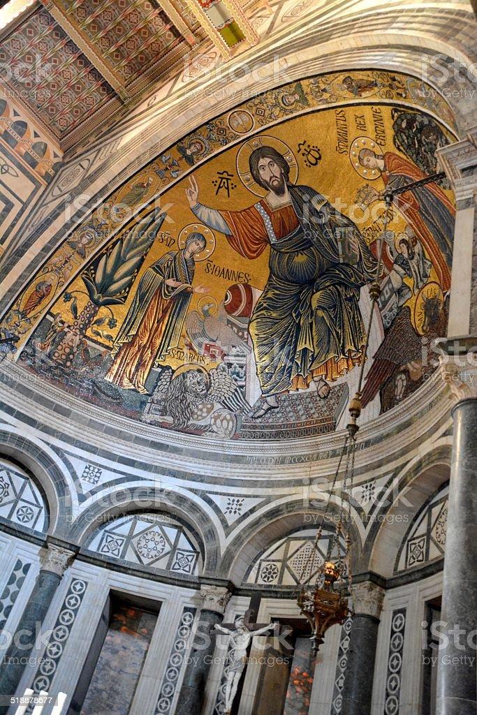 San Miniato Church, indoors - Florence Italy stock photo