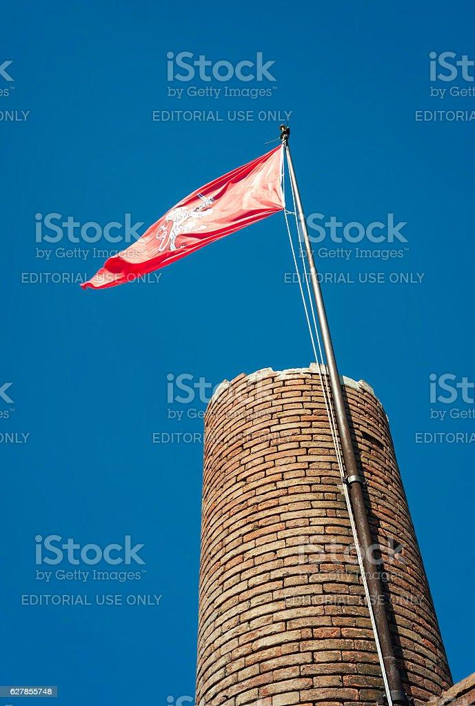 San Miniato, Federico II fortress tower. Color image stock photo