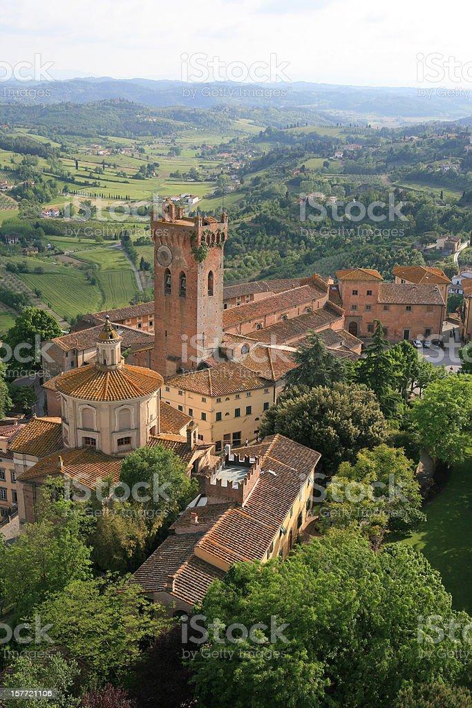 San Miniato from above, Tuscany Italy stock photo