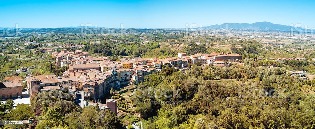 San Miniato panorama (Tuscany hills). Color image stock photo