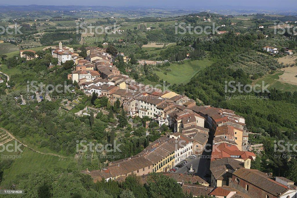 San Miniato panorama stock photo