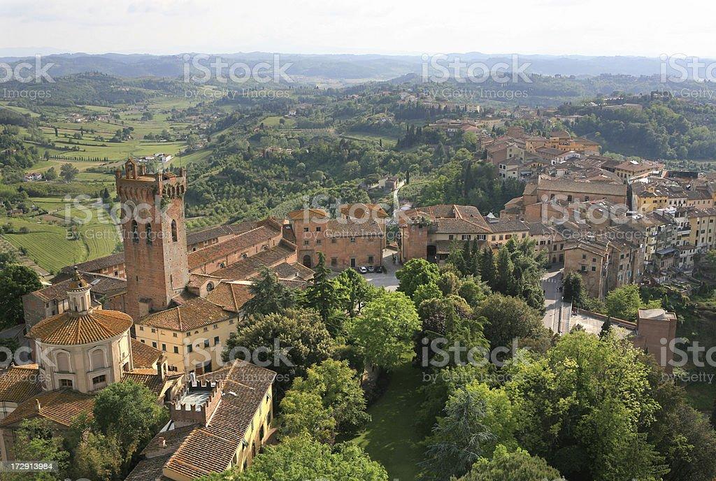 San Miniato panorama, Tuscany Italy stock photo