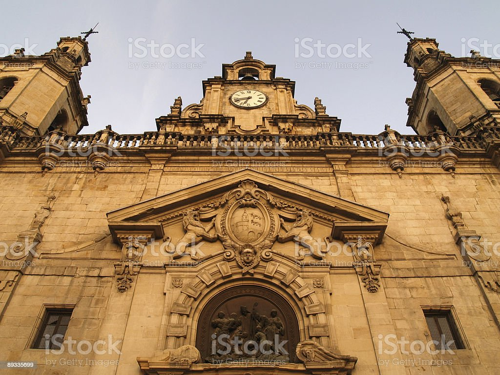 San Nicolas church in Bilbao royalty-free stock photo