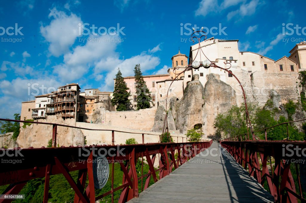 San Pablo Bridge - Cuenca - Spain stock photo