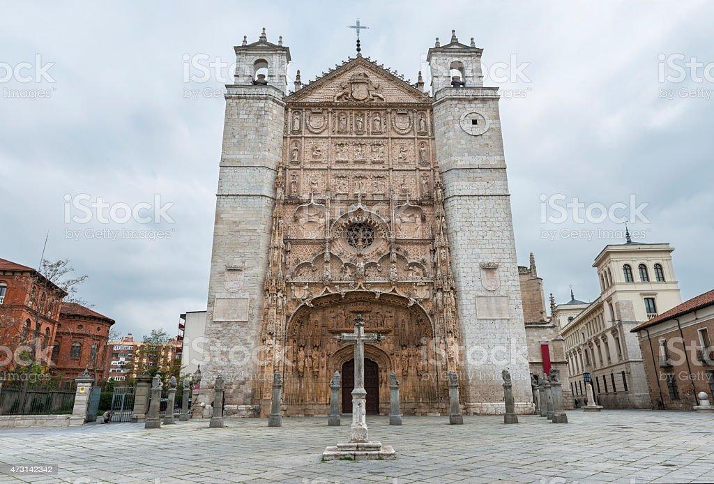 San Pablo Church in Valladolid, Spain stock photo