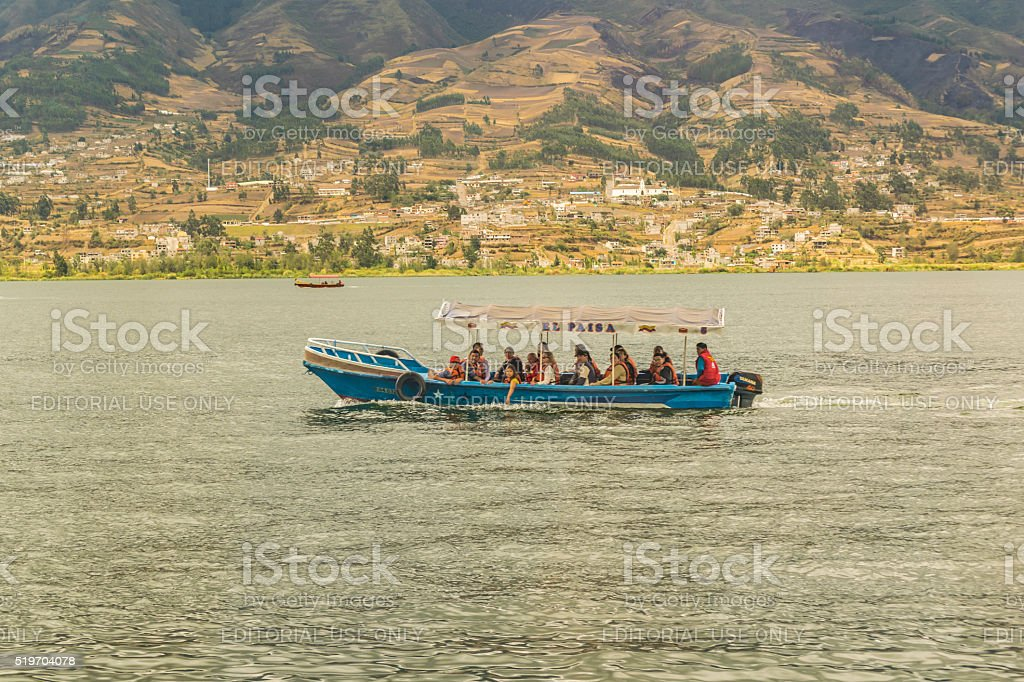 San Pablo Lake Imbabura District Ecuador stock photo