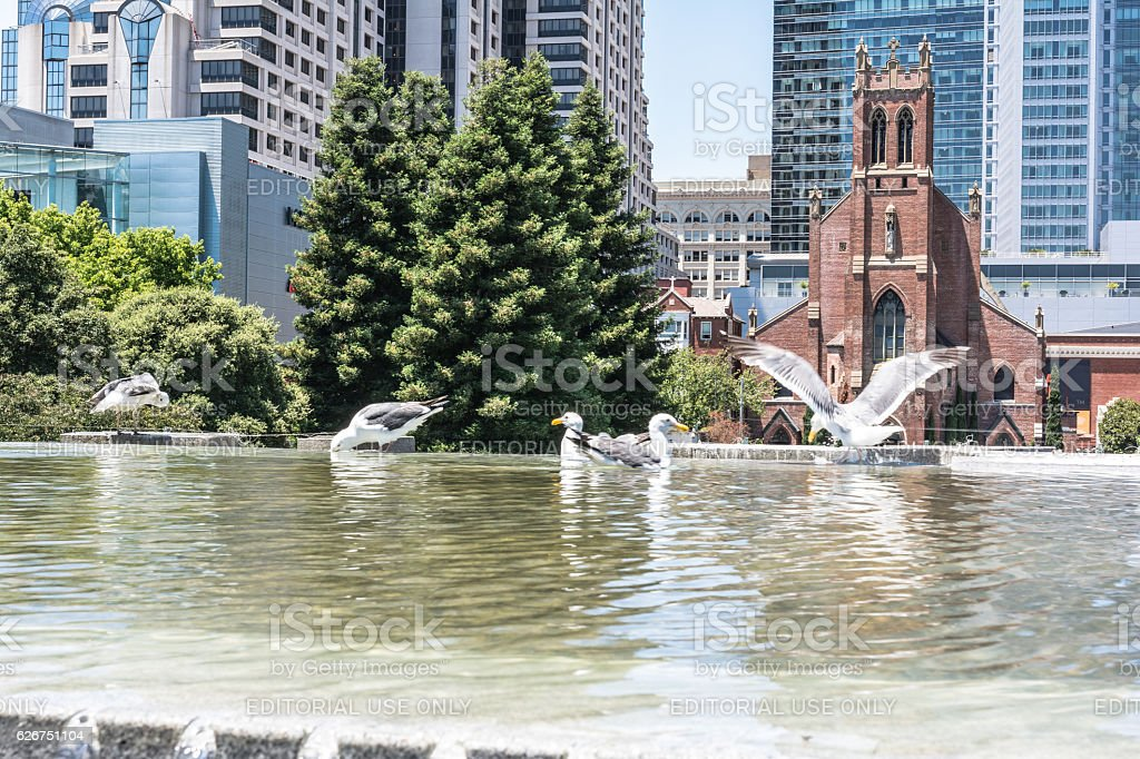San Patrick Church, San Francisco stock photo