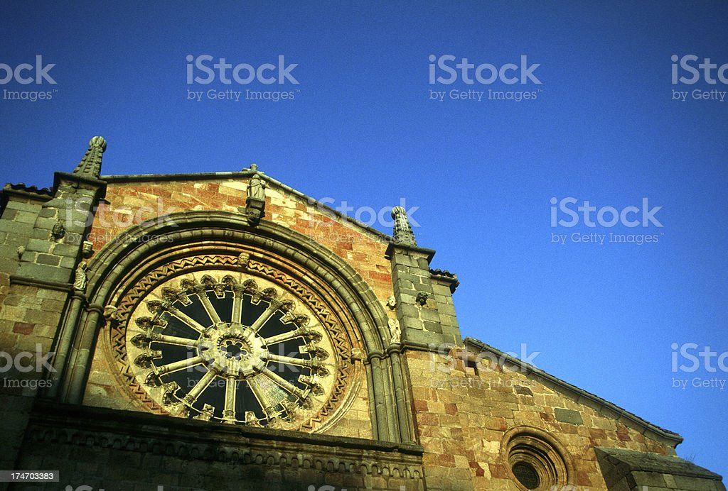 San Pedro church, Avila royalty-free stock photo