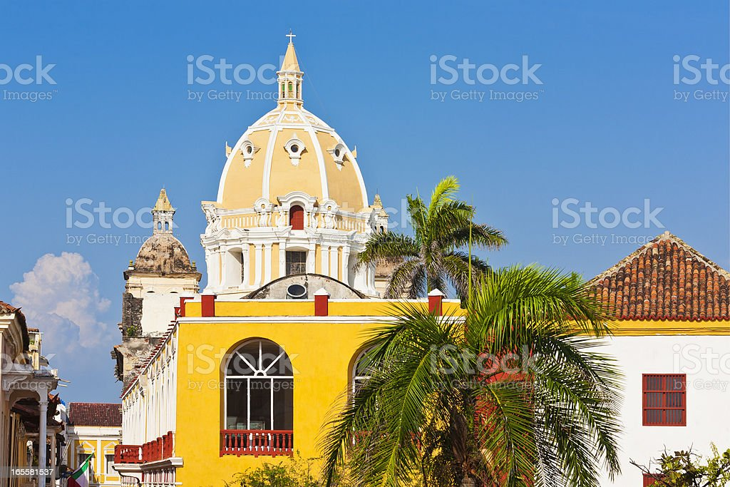 San Pedro Claver Church In Cartagena, Colombia stock photo