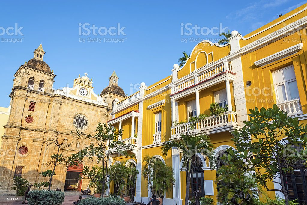 San Pedro Claver Plaza stock photo