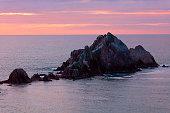 san pedro rock near San Francisco of California at Sunset