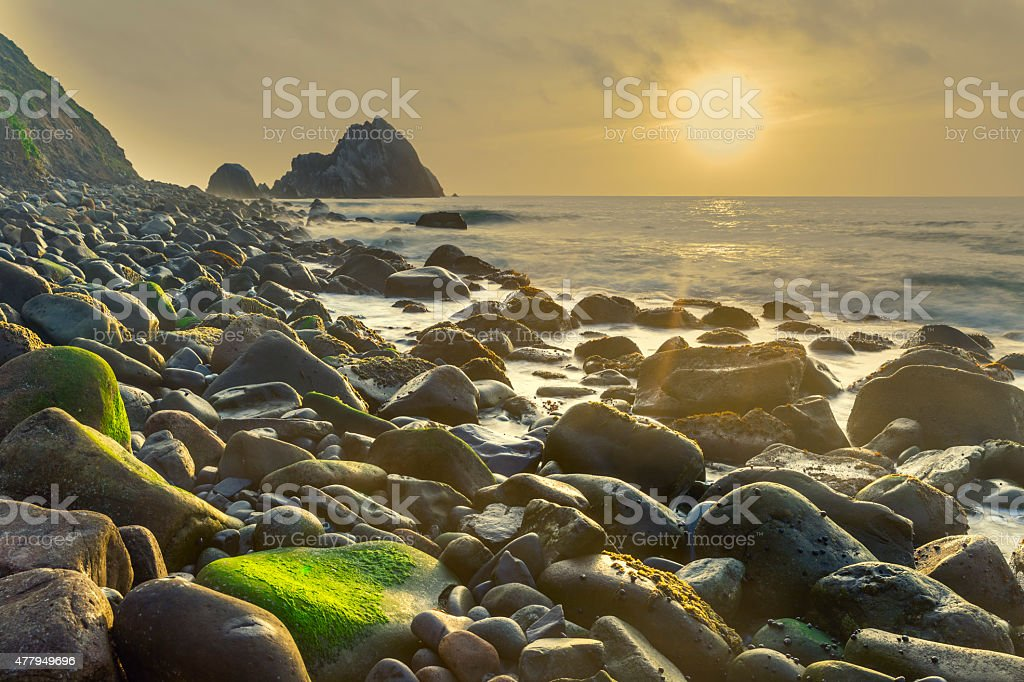 san pedro rock near San Francisco of California stock photo