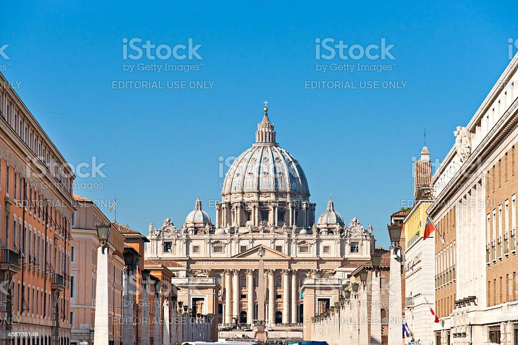 San Peter basilica Rome, Italy. stock photo