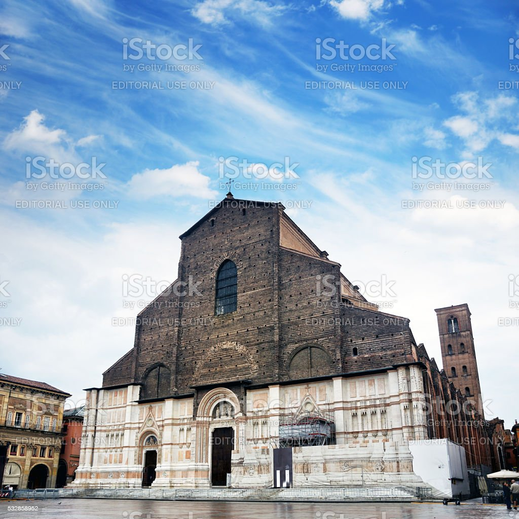 San Petronio Basilica, Bologna stock photo