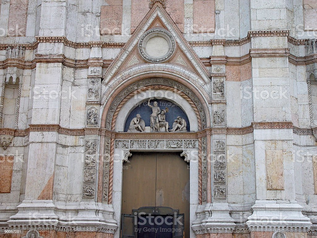San Petronio church, Bologna, Italy stock photo