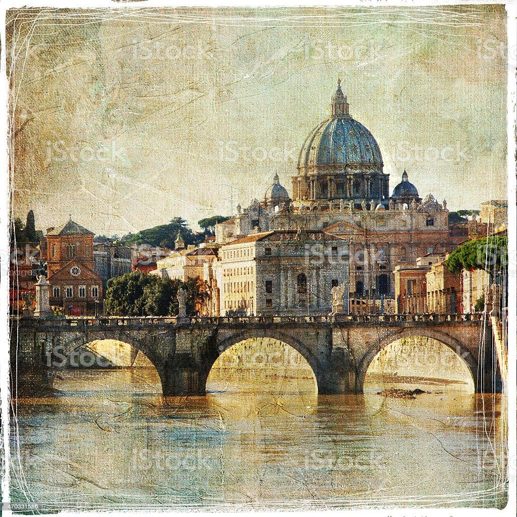 San Pietro basilica. Rome.Italy stock photo