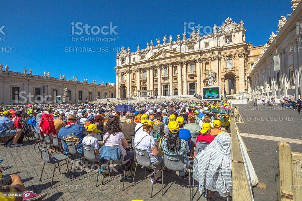 San Pietro Square stock photo