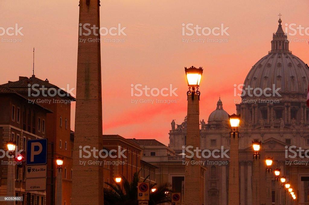 San Pietro's Lights royalty-free stock photo