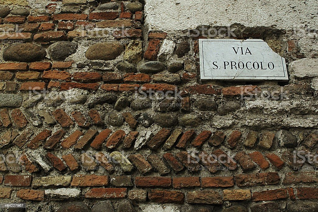 Via San Procolo stock photo
