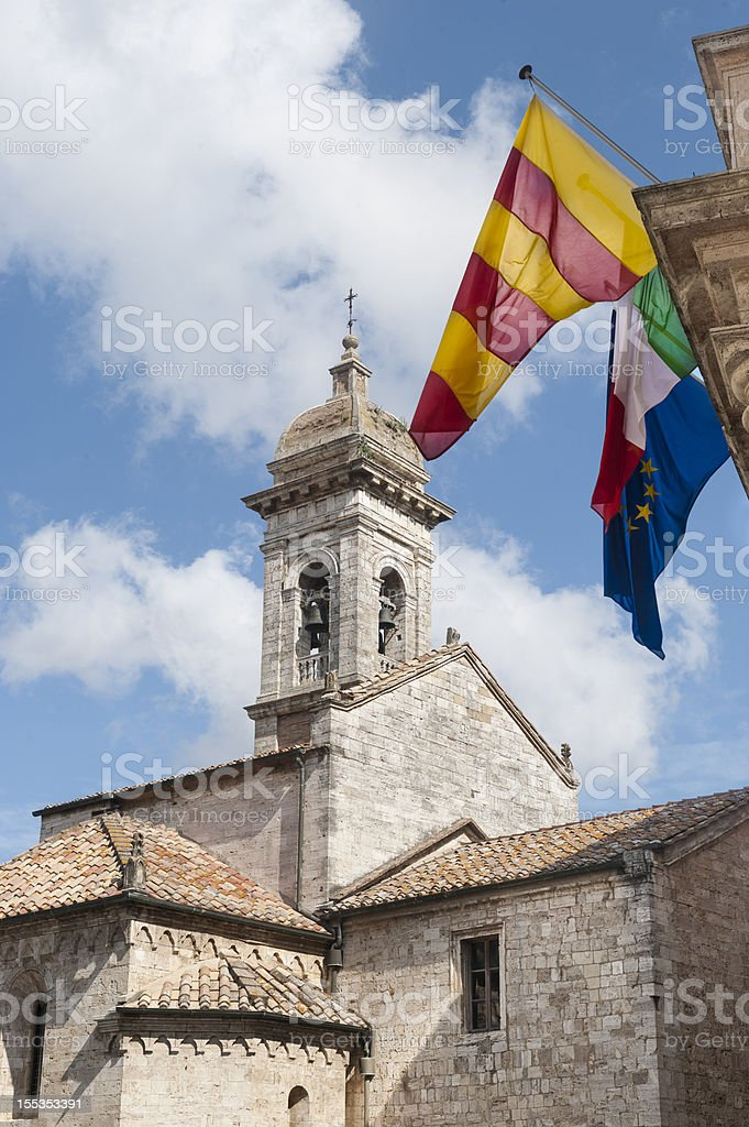 San Quirico d'Orcia (Tuscany), church royalty-free stock photo
