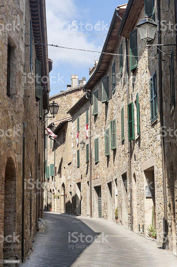 San Quirico d'Orcia (Tuscany) royalty-free stock photo