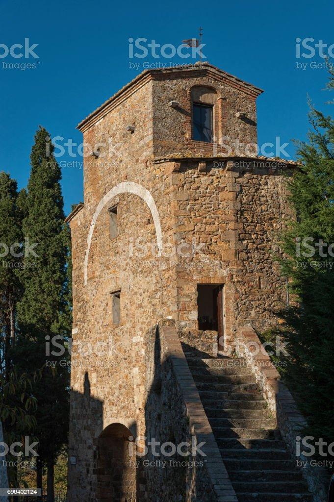 SAN QUIRICO D'ORCIA, ITALY - OCTOBER 30, 2016: San Quirico D'Orcia, Tuscany - Italy stock photo