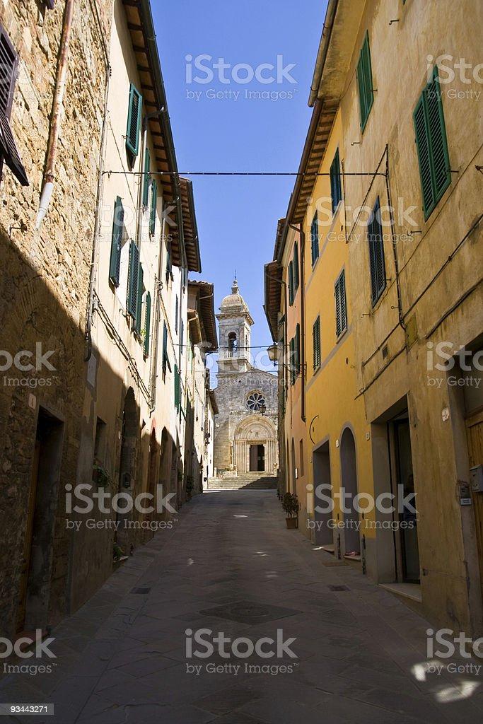 San Quirico in Tuscany royalty-free stock photo