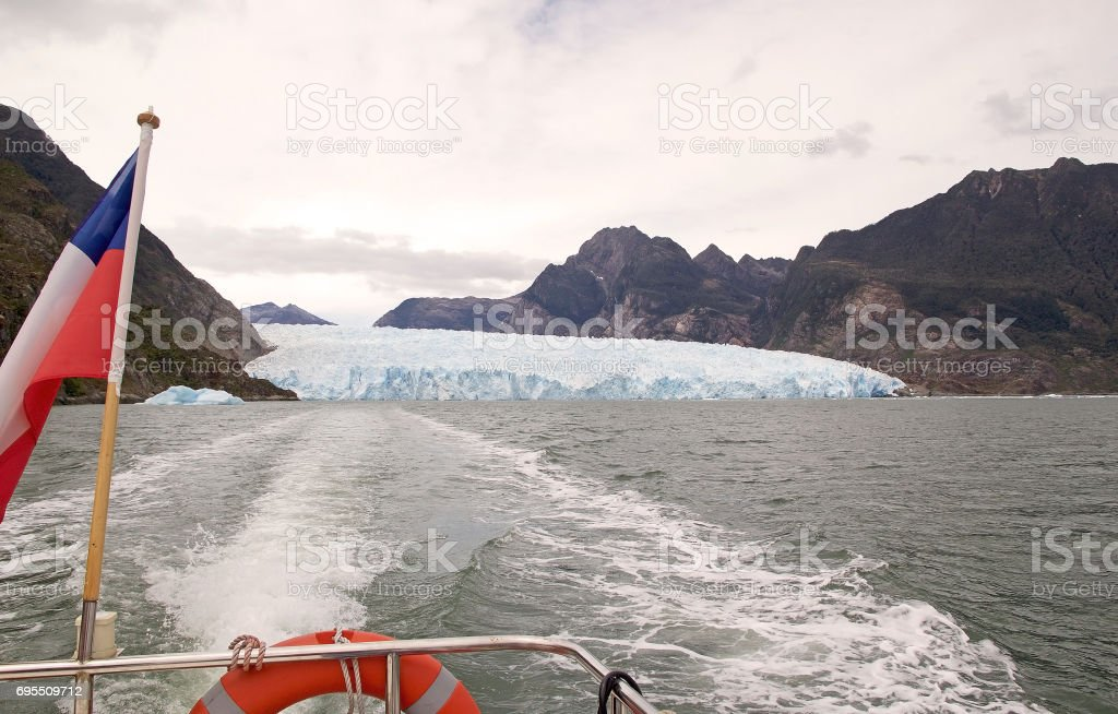 San Rafael Glacier, Patagonia, Chile stock photo