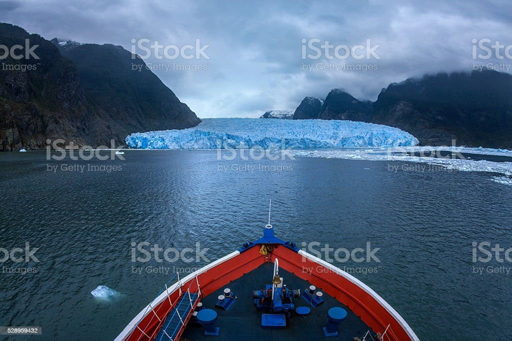 San Refael Glacier - Patagonia - Chile stock photo