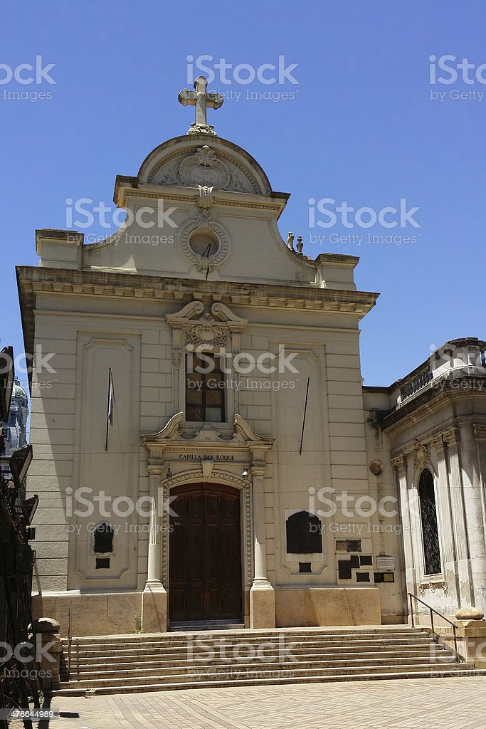San Roque Chapel (Buenos Aires)--Home Church of Pope Francis stock photo