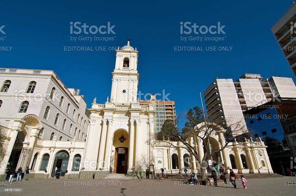 San Salvador de Jujuy Cathedral stock photo
