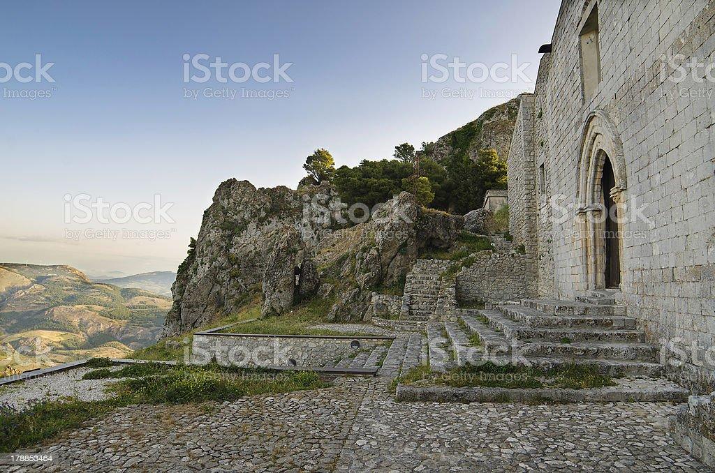 San Salvatore church in Caltabellotta (Sicily, Italy) royalty-free stock photo