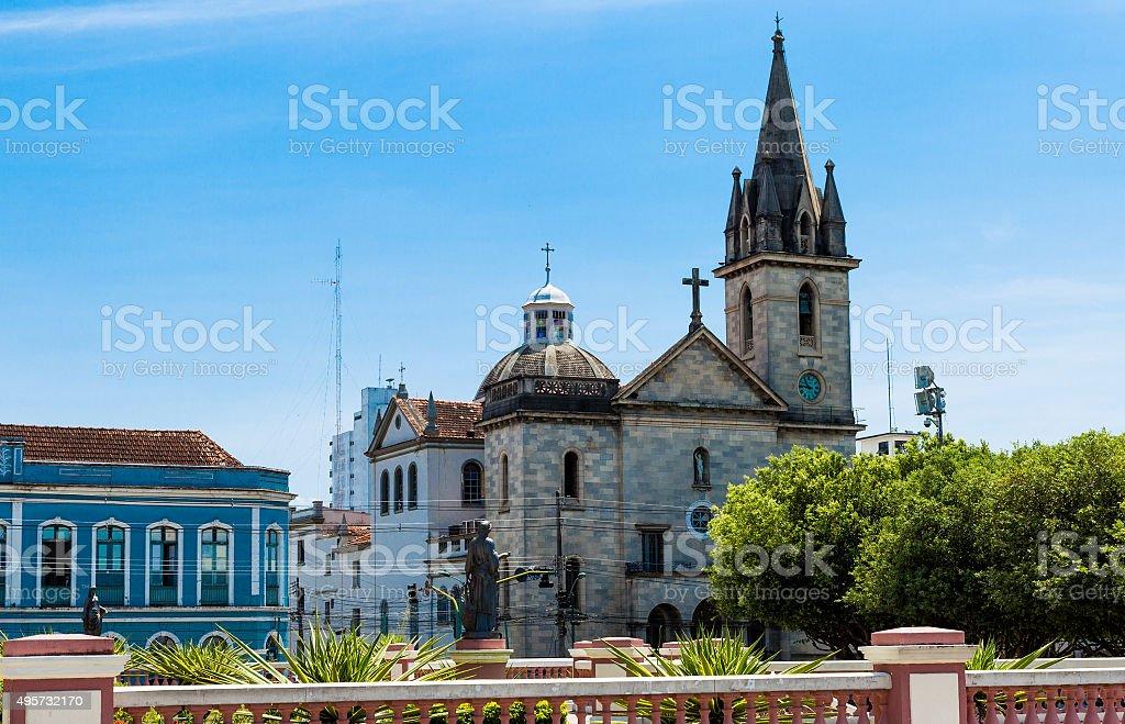 San Sebastian Church in Manaus downtown, Brazil stock photo
